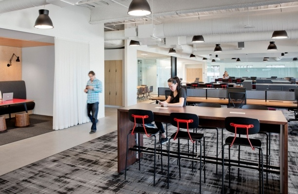 Reece Barstool and Dylan Table in corporate office design
